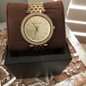 Michael Kors Gold Watch with Crystals